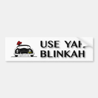 Adesivo Para Carro Use Yah Blinkah