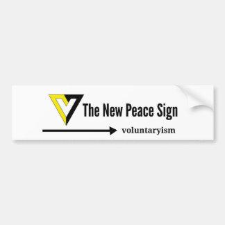 Adesivo Para Carro V para Voluntaryism