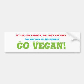 Adesivo Para Carro Vai o autocolante no vidro traseiro do vegan