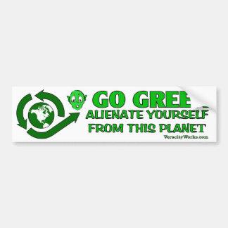 Adesivo Para Carro Vai o verde. Aliene-se deste planeta