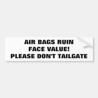 Adesivo Para Carro Valor nominal Tailgaters da ruína dos airbags