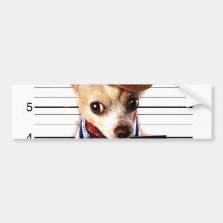 Adesivo Para Carro vaqueiro da chihuahua - cão do xerife