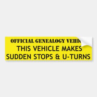 Adesivo Para Carro Veículo oficial da árvore genealógica
