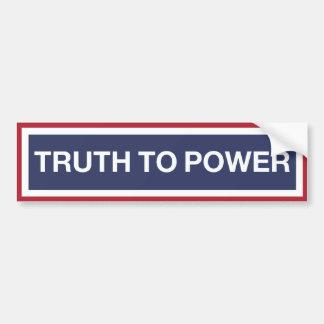Adesivo Para Carro Verdade ao poder