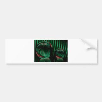 Adesivo Para Carro Verde com vermelho no vidro