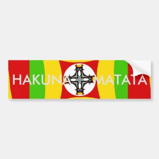Adesivo Para Carro Verde dourado vermelho da cor de Hakuna Matata