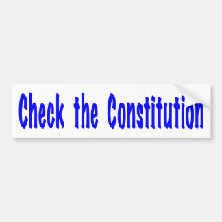 Adesivo Para Carro Verifique a constituição