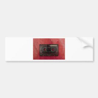 Adesivo Para Carro Vermelho do vintage da música da cassete de banda