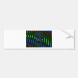 Adesivo Para Carro Vermelho, verde, azul na bola de cristal