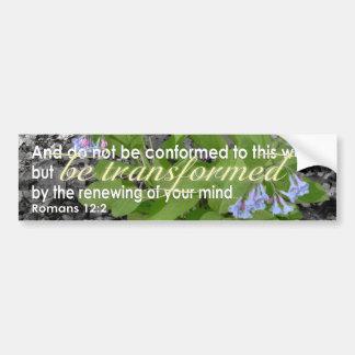 Adesivo Para Carro Verso cristão transformado da bíblia do 12:2 dos