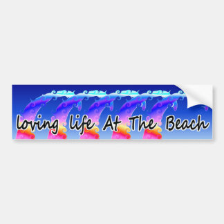 Adesivo Para Carro Vida Loving na praia