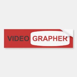 Adesivo Para Carro Videographer ou Youtuber