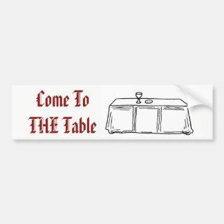 Adesivo Para Carro Vindo à etiqueta da mesa