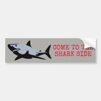 Adesivo Para Carro Vindo ao lado do tubarão
