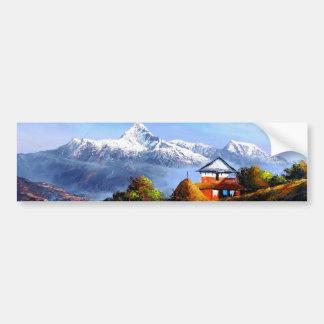 Adesivo Para Carro Vista panorâmica da montanha bonita de Everest