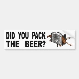 Adesivo Para Carro Você embalou a cerveja?