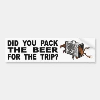 Adesivo Para Carro Você embalou a cerveja para a viagem?