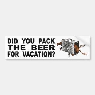 Adesivo Para Carro Você embalou a cerveja para férias?