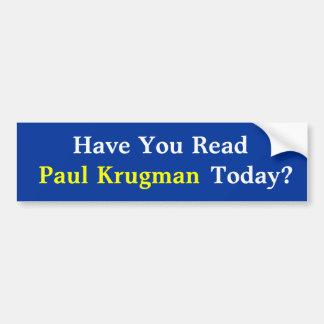 Adesivo Para Carro Você leu Paul KrugmanToday? Autocolante no vidro