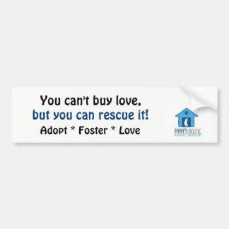 Adesivo Para Carro Você não pode comprar o amor - etiqueta