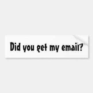 Adesivo Para Carro Você recebeu meu email?