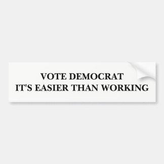 Adesivo Para Carro Vote Democrata, ele é mais fácil do que