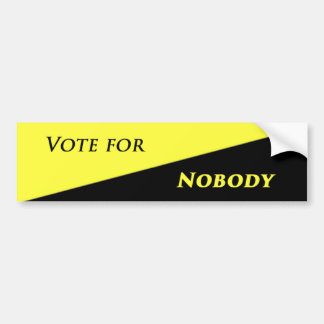 Adesivo Para Carro Voto para ninguém 2