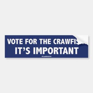 Adesivo Para Carro Voto para os lagostins: É importante! Stic