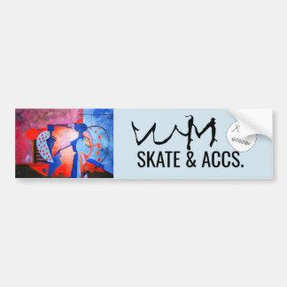 Adesivo Para Carro W.M. Skate & acesso. Etiqueta