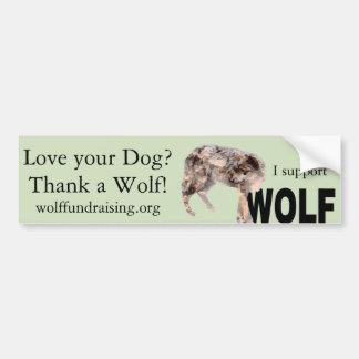 """Adesivo Para Carro W.O.L.F. """"Ame seu cão?"""" Autocolante no vidro"""