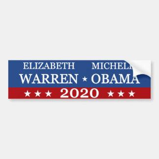 Adesivo Para Carro Warren Obama 2020