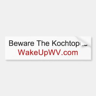 Adesivo Para Carro West Virginia - Beware o Kochtopus