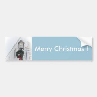 Adesivo Para Carro White Christmas da grinalda do inverno da luz de