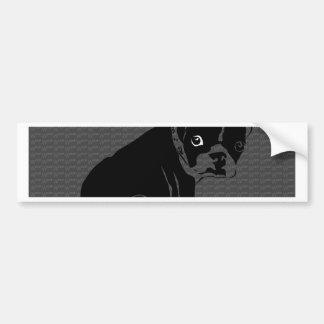 Adesivo Para Carro Woof do filhote de cachorro de Boston Terrier
