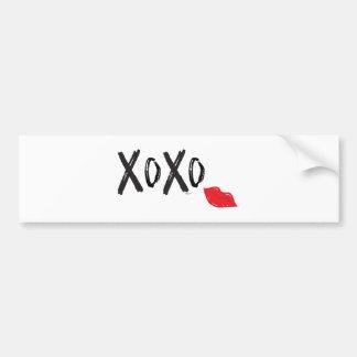 Adesivo Para Carro XoXo-Abraço-Beijo-com-Vermelho-Lábios