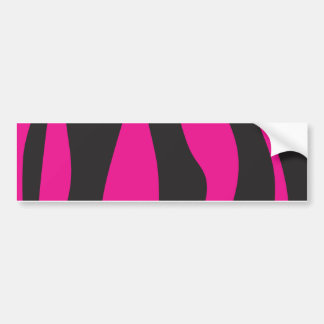 Adesivo Para Carro Zebra cor-de-rosa