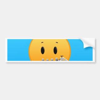 Adesivo Para Carro Zipper Emoji