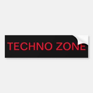 Adesivo Para Carro Zona de Techno, zona de perigo do techno