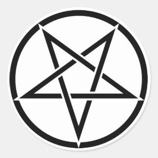 Adesivo Pentagrama Invertido Goétia