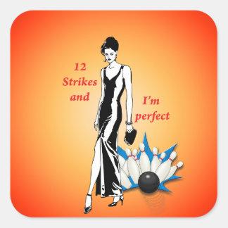 Adesivo Quadrado 12 greves e eu somos #1 perfeitos