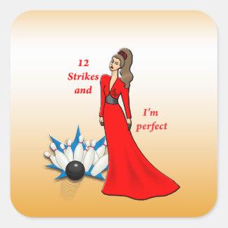Adesivo Quadrado 12 greves e eu somos #2 perfeitos