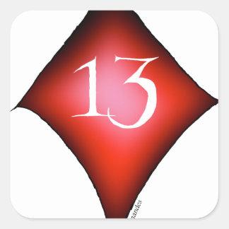 Adesivo Quadrado 13 dos diamantes