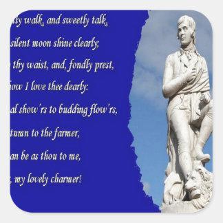 Adesivo Quadrado 1759-1796) poemas e canções de Robert Burns (