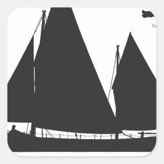 Adesivo Quadrado 1891 barcos salva-vidas de navigação - fernandes