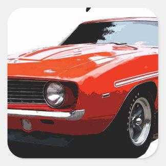 Adesivo Quadrado 1969_camaro_yenko_orange
