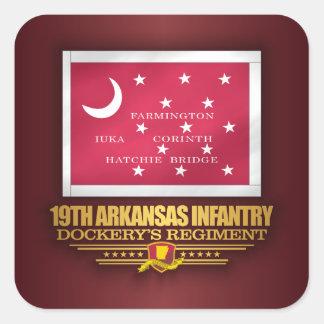 Adesivo Quadrado 19o Infantaria de Arkansas (F10)