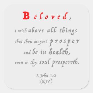 Adesivo Quadrado 1:2 3John