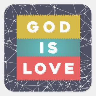 Adesivo Quadrado 1 4:8 de John - o deus é amor