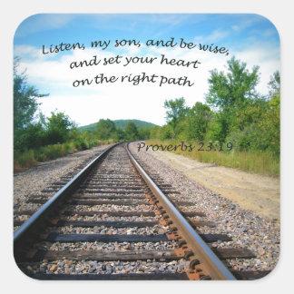 Adesivo Quadrado 23:19 dos provérbio