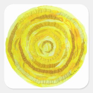 Adesivo Quadrado 3rd-Solar trabalhos de arte curas amarelos do